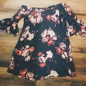 Floral Daytrip Off The Shoulder Dress